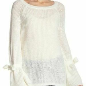 Project Naadam Open Knit Bell Sleeve Sweater Small